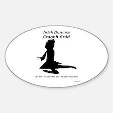 Girl Craobh Grád - Oval Decal
