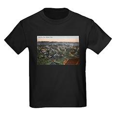 1910 Birds Eye View of Mankato Kids Dark T-Shirt