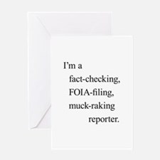 I'm a reporter Greeting Card