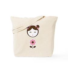 Girl Pink Flower Tote Bag