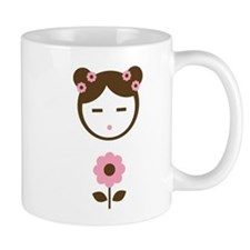 Girl Pink Flower Mug