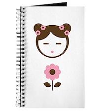Girl Pink Flower Journal