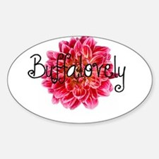 Buffalo Dahlia Oval Decal