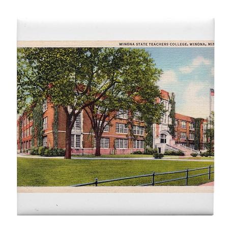 1936 Winona State Teachers College Tile Coaster