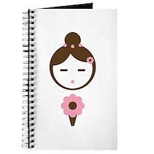 Girl Pink Bouquet Journal