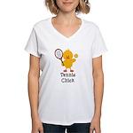 Tennis Chick Women's V-Neck T-Shirt