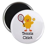 Tennis Chick Magnet