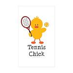 Tennis Chick Rectangle Sticker 50 pk)