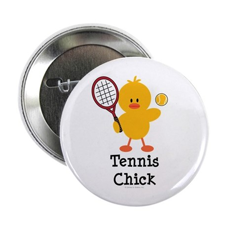 "Tennis Chick 2.25"" Button (10 pack)"