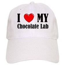 I Love My Chocolate Lab Baseball Cap
