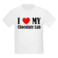 I Love My Chocolate Lab Kids T-Shirt