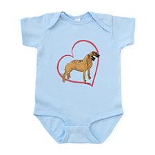 NBrNF Stand Heartline Infant Bodysuit