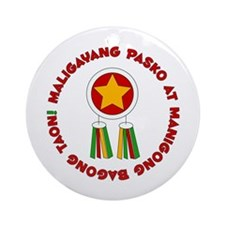 Philippines Christmas Ornament (Round)