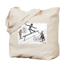 Walking on The Political Bala Tote Bag