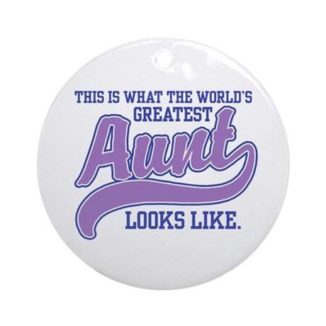 World's Greatest Aunt Ornament (Round)