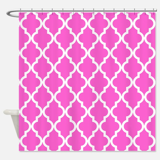 Pink Moroccan Pattern Shower Curtain