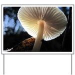 Mushroom Gills Backlit Yard Sign