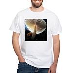 Mushroom Gills Backlit White T-Shirt