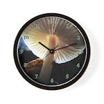 Mushroom Gills Backlit Wall Clock
