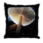 Mushroom Gills Backlit Throw Pillow
