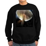 Mushroom Gills Backlit Sweatshirt (dark)