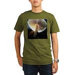 Mushroom Gills Backlit Organic Men's T-Shirt (dark