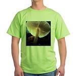Mushroom Gills Backlit Green T-Shirt
