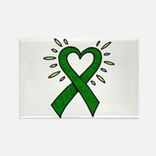 Donor Heart Ribbon Rectangle Magnet (10 pack)