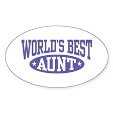 World's Best Aunt Oval Decal