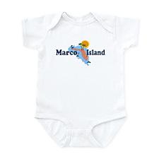 Marco Island FL - Map Design Infant Bodysuit