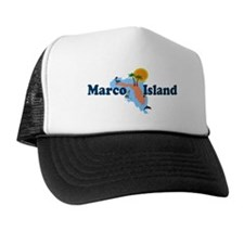 Marco Island FL - Map Design Hat