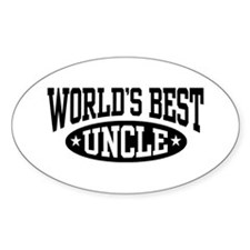 World's Best Uncle Oval Decal