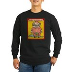 Behind EDDIE ELEPHANT Long Sleeve Dark T-Shirt