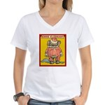 Behind EDDIE ELEPHANT Women's V-Neck T-Shirt