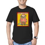 Behind EDDIE ELEPHANT Men's Fitted T-Shirt (dark)
