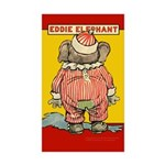 Behind EDDIE ELEPHANT Rectangle Sticker 50 pk)