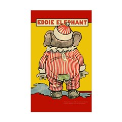 Behind EDDIE ELEPHANT Rectangle Decal