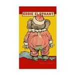 Behind EDDIE ELEPHANT Rectangle Sticker