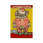 Behind EDDIE ELEPHANT Rectangle Magnet (100 pack)