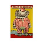 Behind EDDIE ELEPHANT Rectangle Magnet