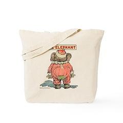 Behind EDDIE ELEPHANT Tote Bag