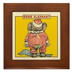 Behind EDDIE ELEPHANT Framed Tile