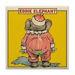 Behind EDDIE ELEPHANT Tile Coaster