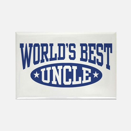 World's Best Uncle Rectangle Magnet