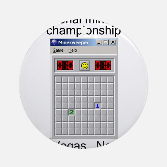 minesweeper championship Ornament (Round)