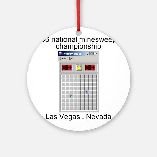 minesweeper championship Ornament (Round)