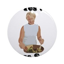 Toss the salad Ornament (Round)