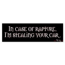 In case of rapture, I'm stealing your car