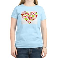 Heart of Hearts Women's Pink T-Shirt