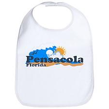Pensacola Beach FL - Waves Design Bib